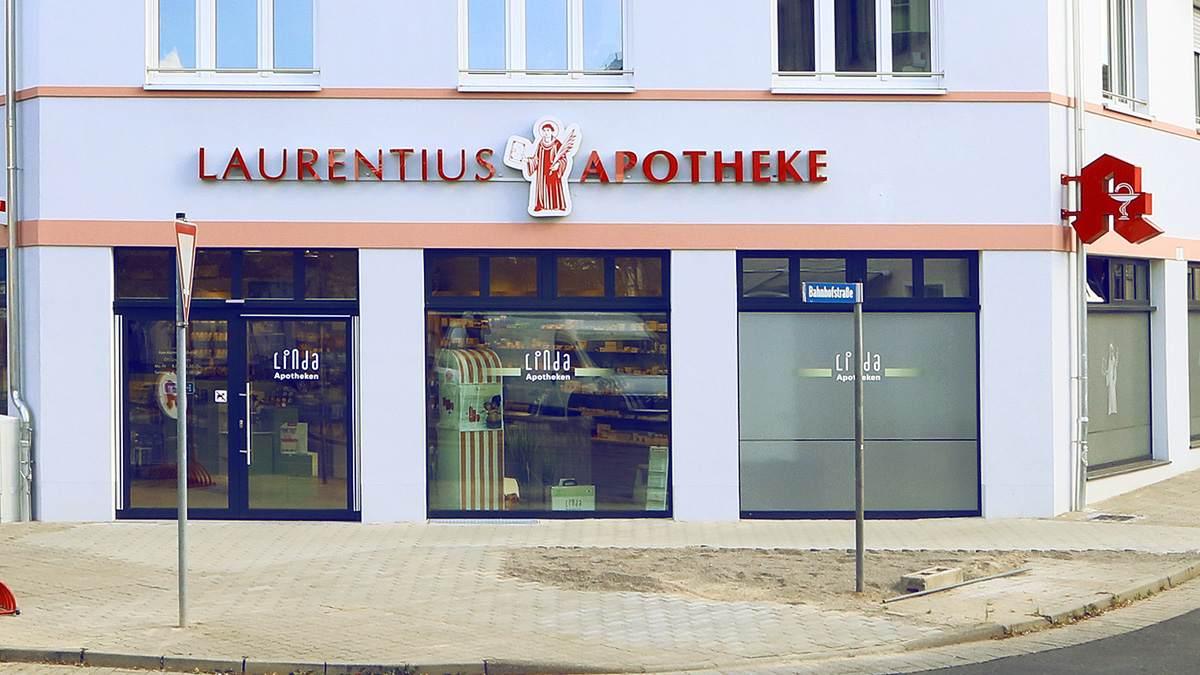 Laurentius Apotheke Tennhardt Zwenkau Außenansicht